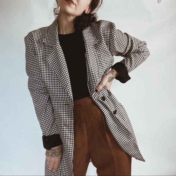 90/'s Vintage Gingham Blazer